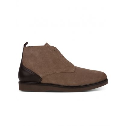 Taupe Suede Chukka Boots