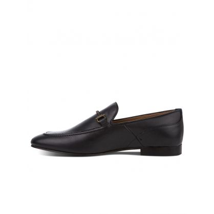 Black Blythe Leather Loafers