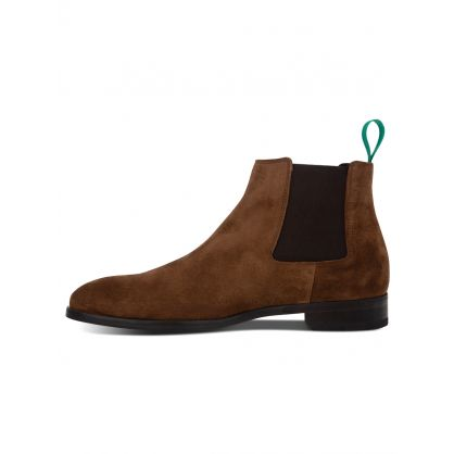 Tan Suede 'Crown' Chelsea Boots