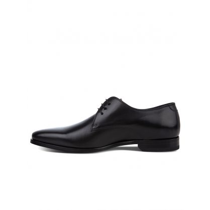 Black Leather 'Coyle' Derby Shoes