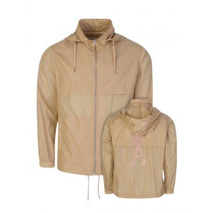 Beige Ami de Coeur Hooded Windbreaker Jacket