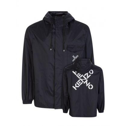 Black Sport Short Scooter Trench/Rain Jacket