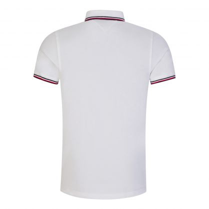 White Slim-Fit Organic Cotton Tipped Polo Shirt