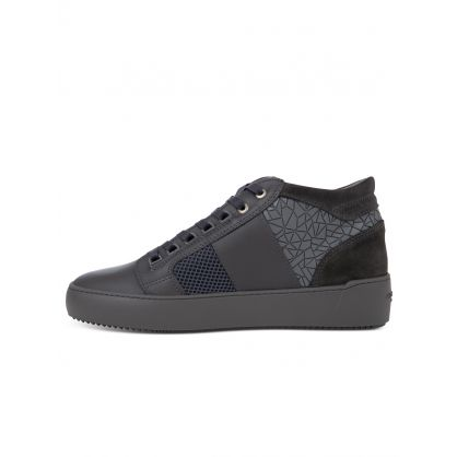 Grey Mosaic Mesh Propulsion Mid Geo Trainers