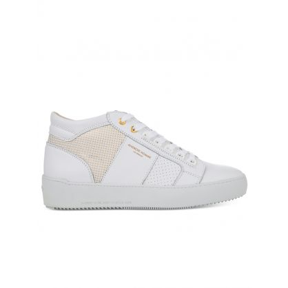 White Propulsion Mid Geo Trainers