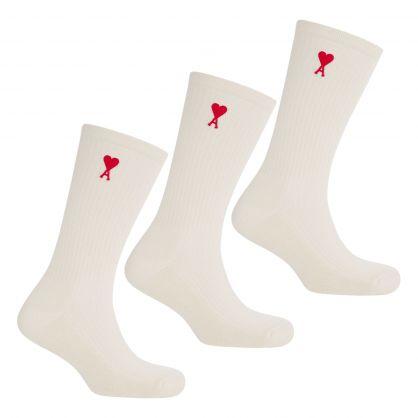 Off White Ami de Coeur Socks 3-Pack