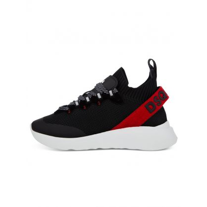 Black Knitted Mesh Speedster Trainers