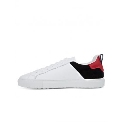 White Suede Freezing Badge Trainers