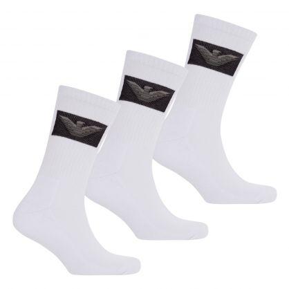 White Eagle Logo Sponge Short Socks 3-Pack