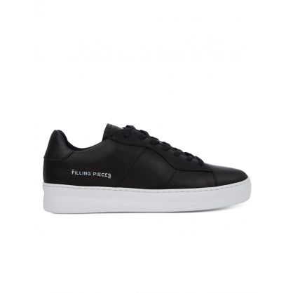 Black Light Plain Court Trainers