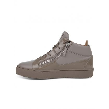 Grey Mid-Top Kriss Trainers