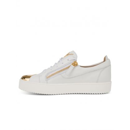 White Low-Top Frankie Steel Trainers
