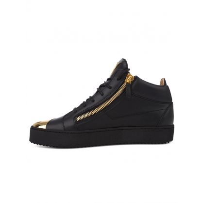 Black Mid-Top Kriss Steel Trainers