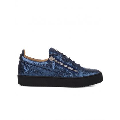Blue Low-Top Glitter Frankie Trainers