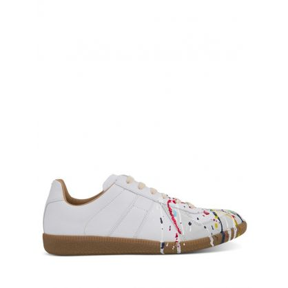 White 'Paint Drop' Replica Trainers