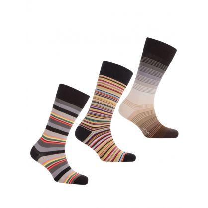 Multicolour Mixed Socks 3-Pack