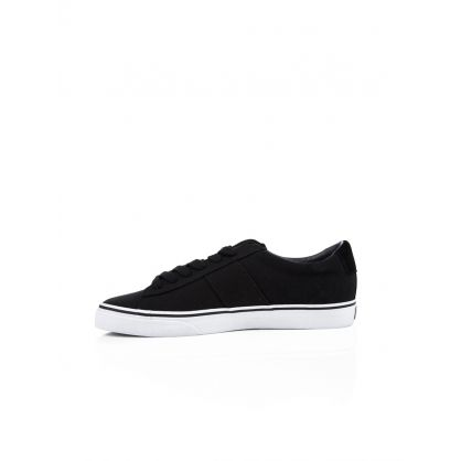 Black Canvas Low-Top Sayer TrainersD