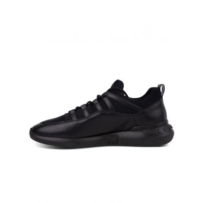 Black No_Code 01 Leather Runner Trainers