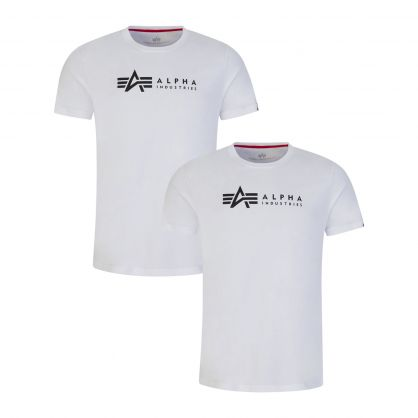 White Alpha Label T-Shirts 2-Pack
