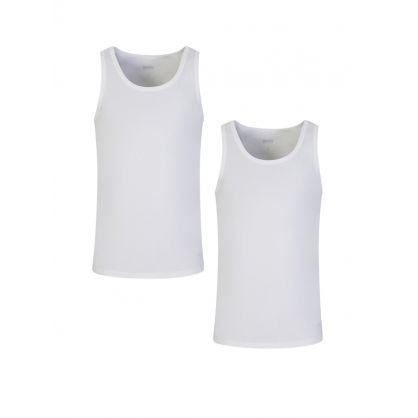 White Pure Cotton Tank Tops 3-Pack
