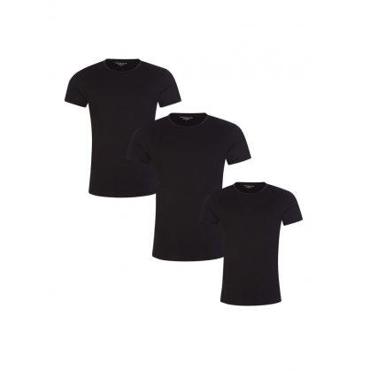 Black 3Pk Essential T-Shirts