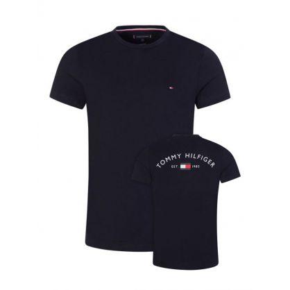 Navy Back Logo T-Shirt