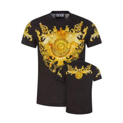 Black Panel Baroque T-Shirt