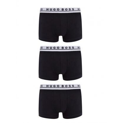 Menswear Black Trunks 3-Pack