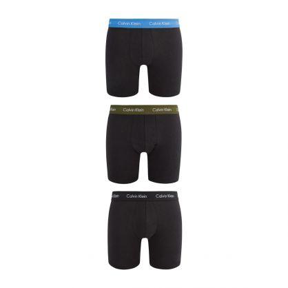 Black 3pk Classic Fit Boxer Briefs
