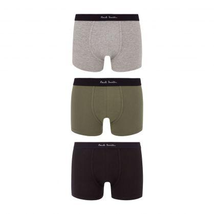 Green/Black/Navy Trunks 3-Pack