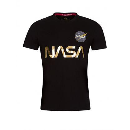 Black NASA Reflective T-Shirt
