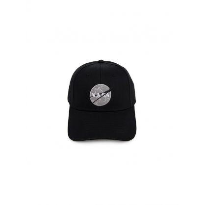 Black NASA Patch Logo Cap