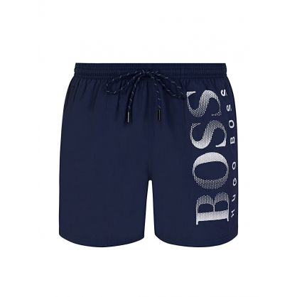 Navy Beachwear Octopus Swim Shorts