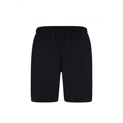 Black Beachwear Octopus Swim Shorts