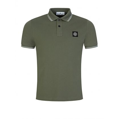 Olive Tipped  Polo Shirt