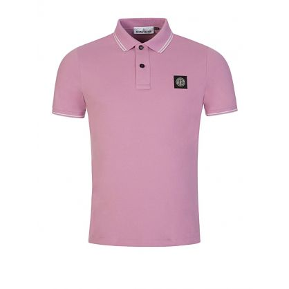 Pink Tipped Badge Polo Shirt