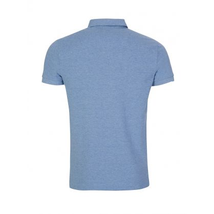 Sky Blue Slim-Fit Polo Shirt