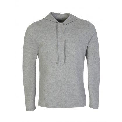 Grey Cotton-Blend Sleepwear Hoodie