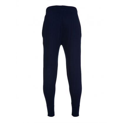Blue Cotton Jersey Sweatpants