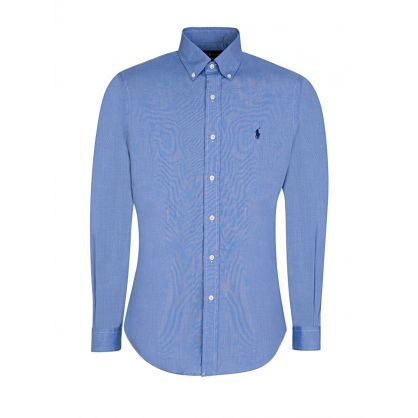 Blue Slim- Fit Cotton Poplin Shirt