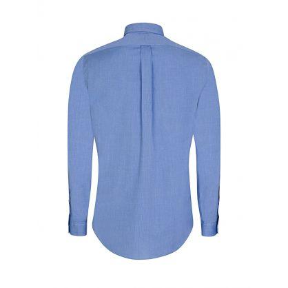 Blue Slim- Fit Cotton Poplin Shirt