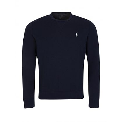 Navy Double-Knit Crewneck Sweatshirt