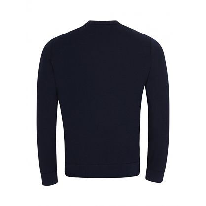 Navy Double-Knit Crewneck Sweatshirt