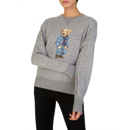 Grey Denim Bear Sweatshirt