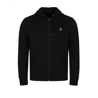 Black Double-Knit Zip-Through