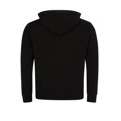 Black Double-Knit Zip Hoodie