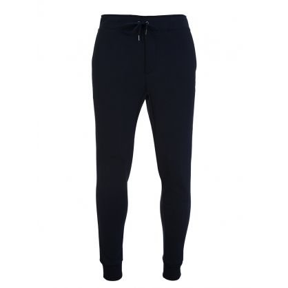 Navy Double-Knitted Sweatpants