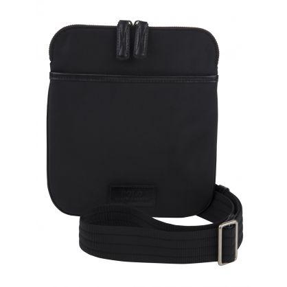 Black Nylon Messenger Bag