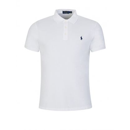 White Washed Terry Polo Shirt