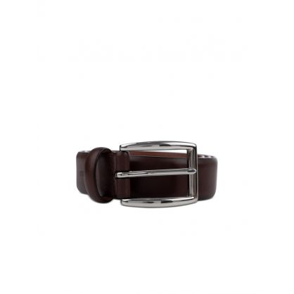 Brown Smooth Leather Harness Belt